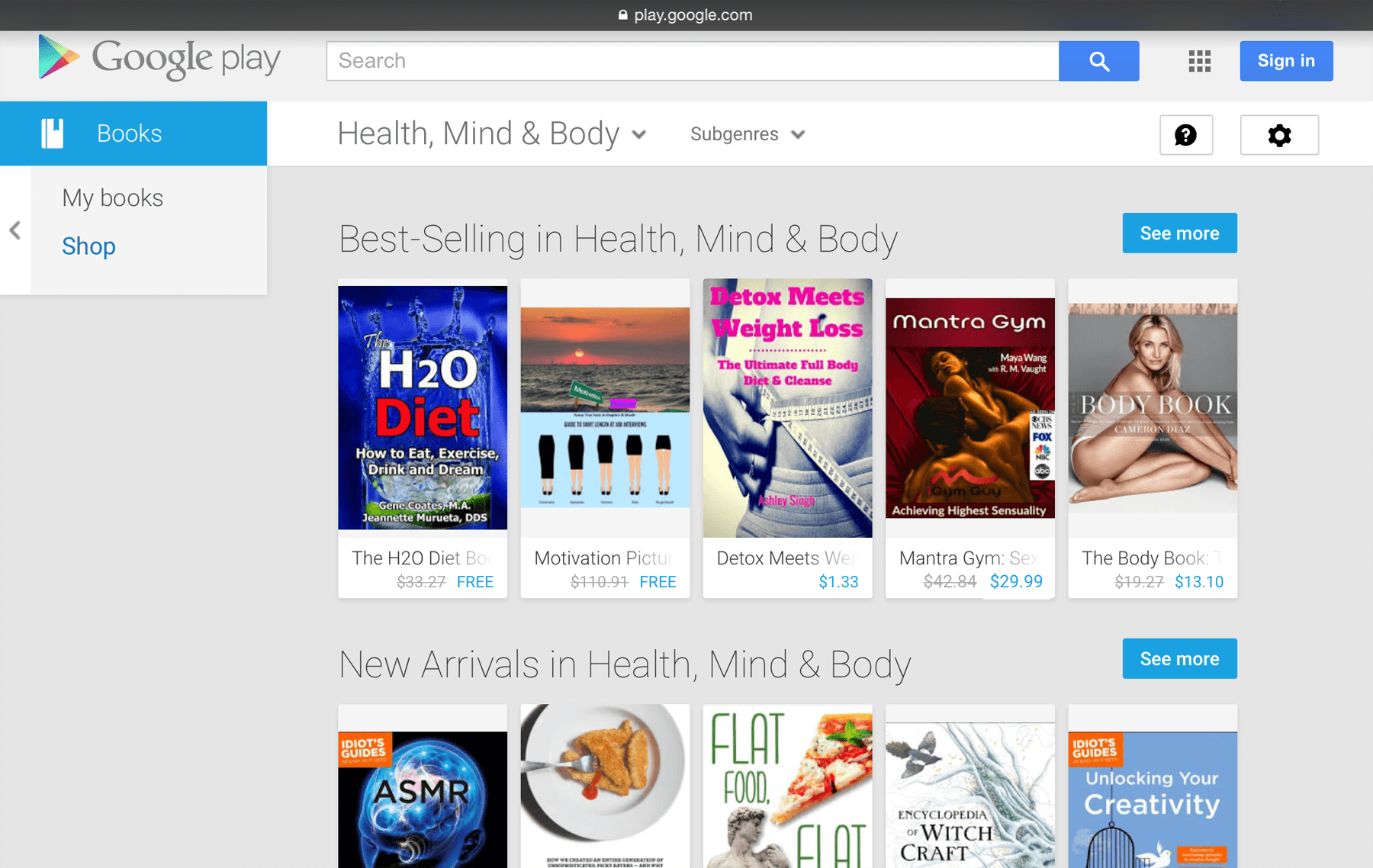Mantra Gym Hits Top Row at Google Book Store